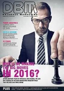 2016 predictions published in Database Marketing Magazine