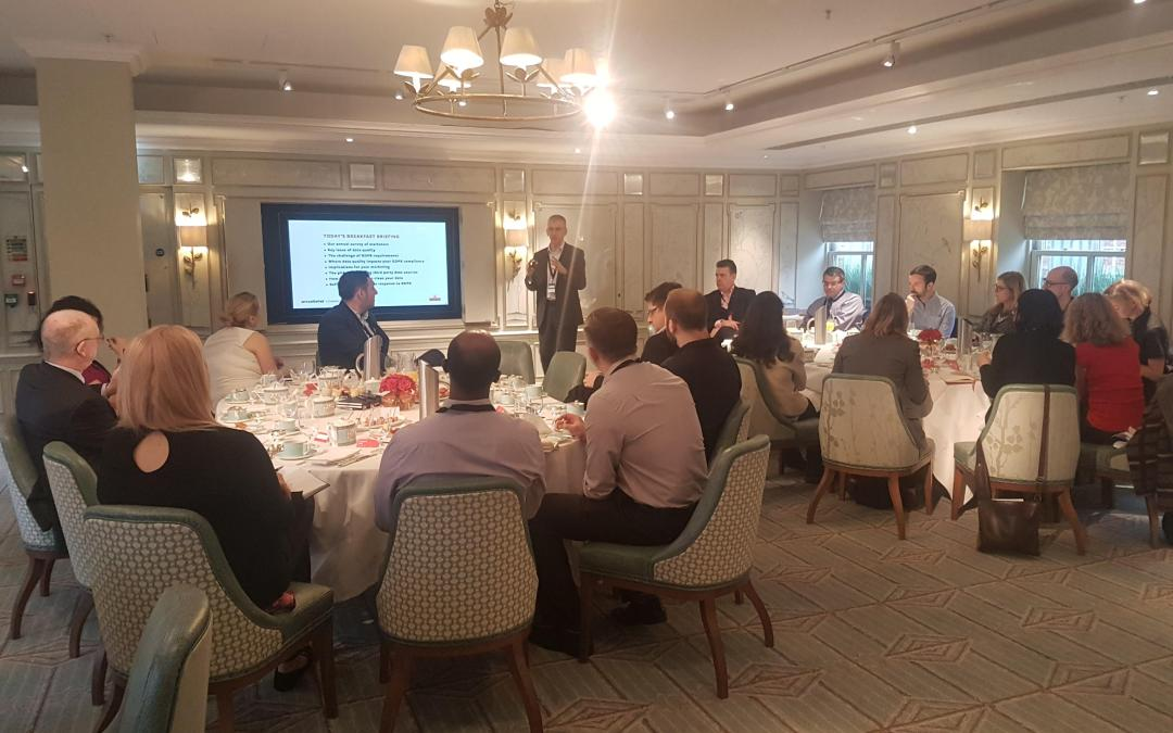 Marketers' breakfast briefing, why GDPR compliance requires data quality