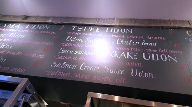 The Chalkboard-style menu.