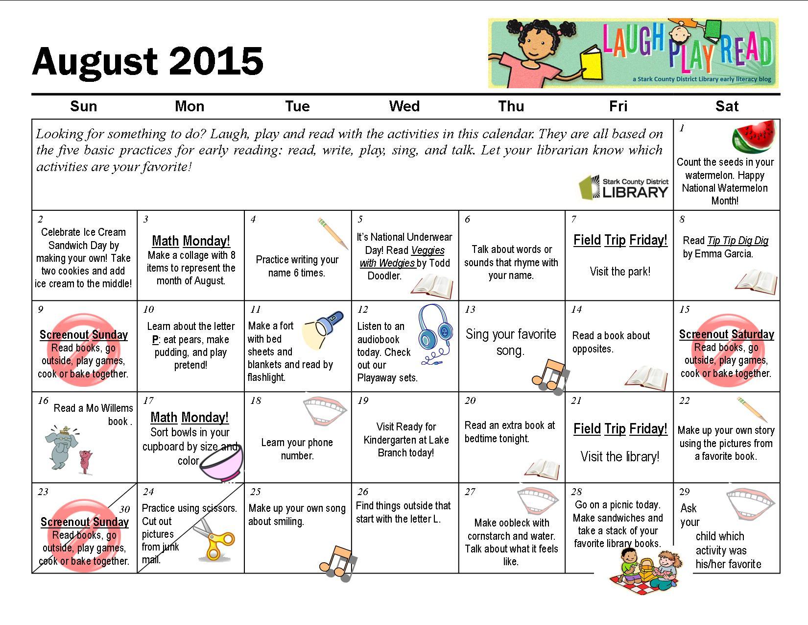 Monthly Activities For Preschoolers
