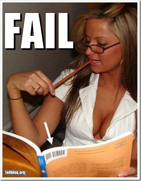 Blonde Book Fail