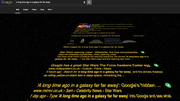 Google Star Wars easter egg