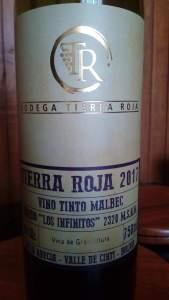 Tierra Roja Malbec 2017, vino de Bolivia