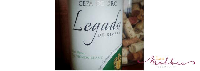 Vino boliviano Cepa de oro Legado de Rivera Sauvignon Blanc