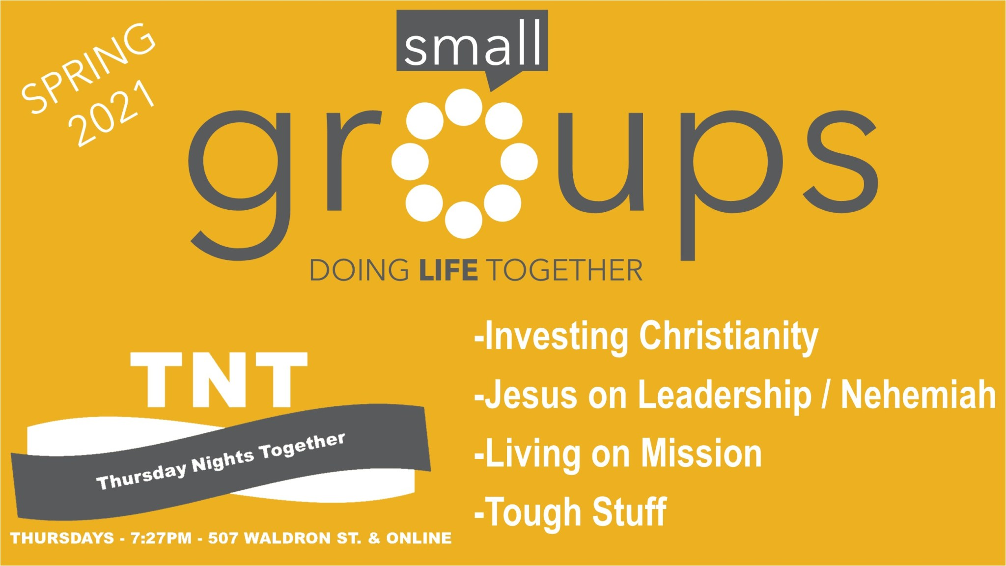 SMALL GROUPS SP21