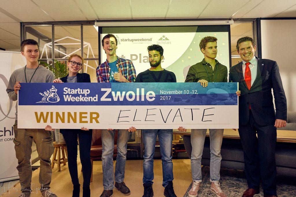 Team Elevate wint Startup Weekend Zwolle 2017