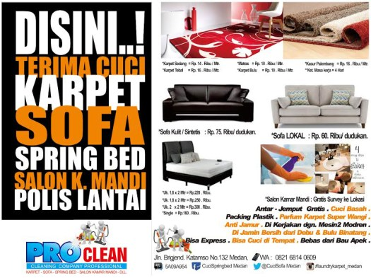 Tempat Laundry Karpet di Medan
