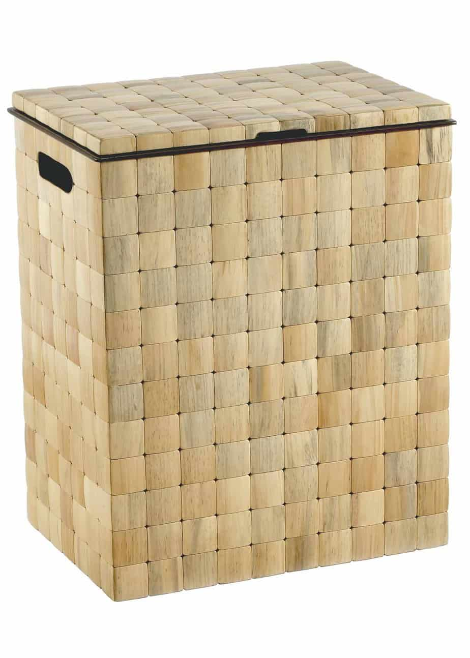 Barclay Lidded Hamper in Tiled Pine  Luxury Hamper