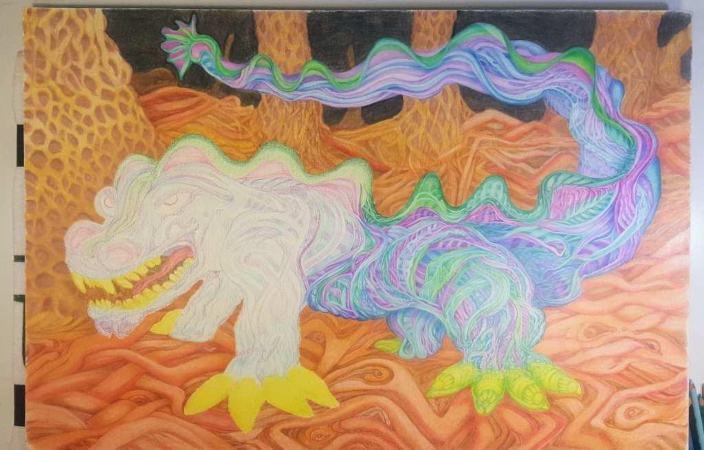 Sea Weed Dragon - work in progress