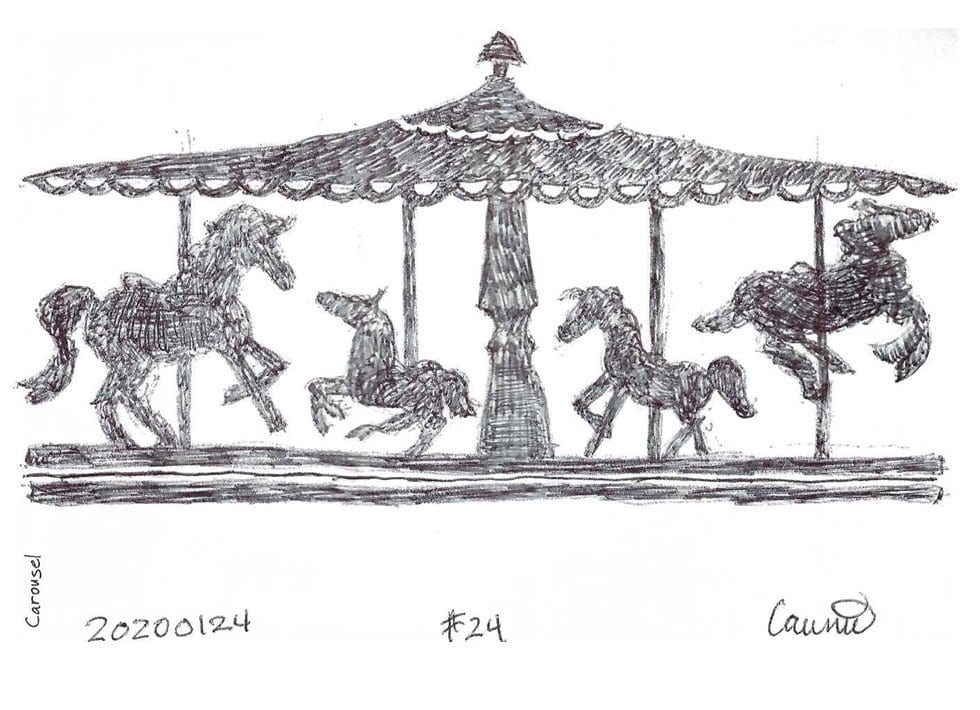 2020 Sketch of the day Number 24: Carousel