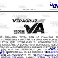 """Se Publica Alianza PRI-PAN-PRD en Veracruz, """"Veracruz Va""""."""