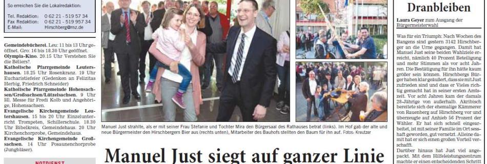 Bürgermeisterwahl in Hirschberg