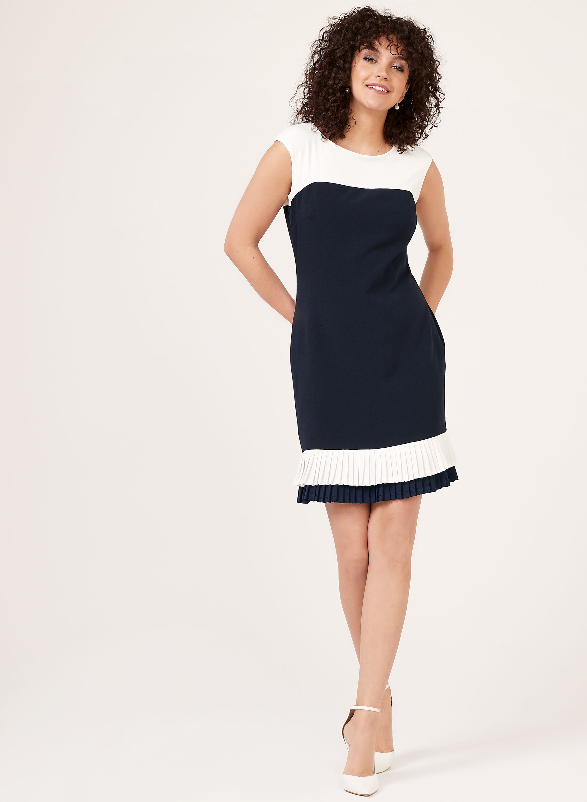 Colour Block Crepe Dress Laura