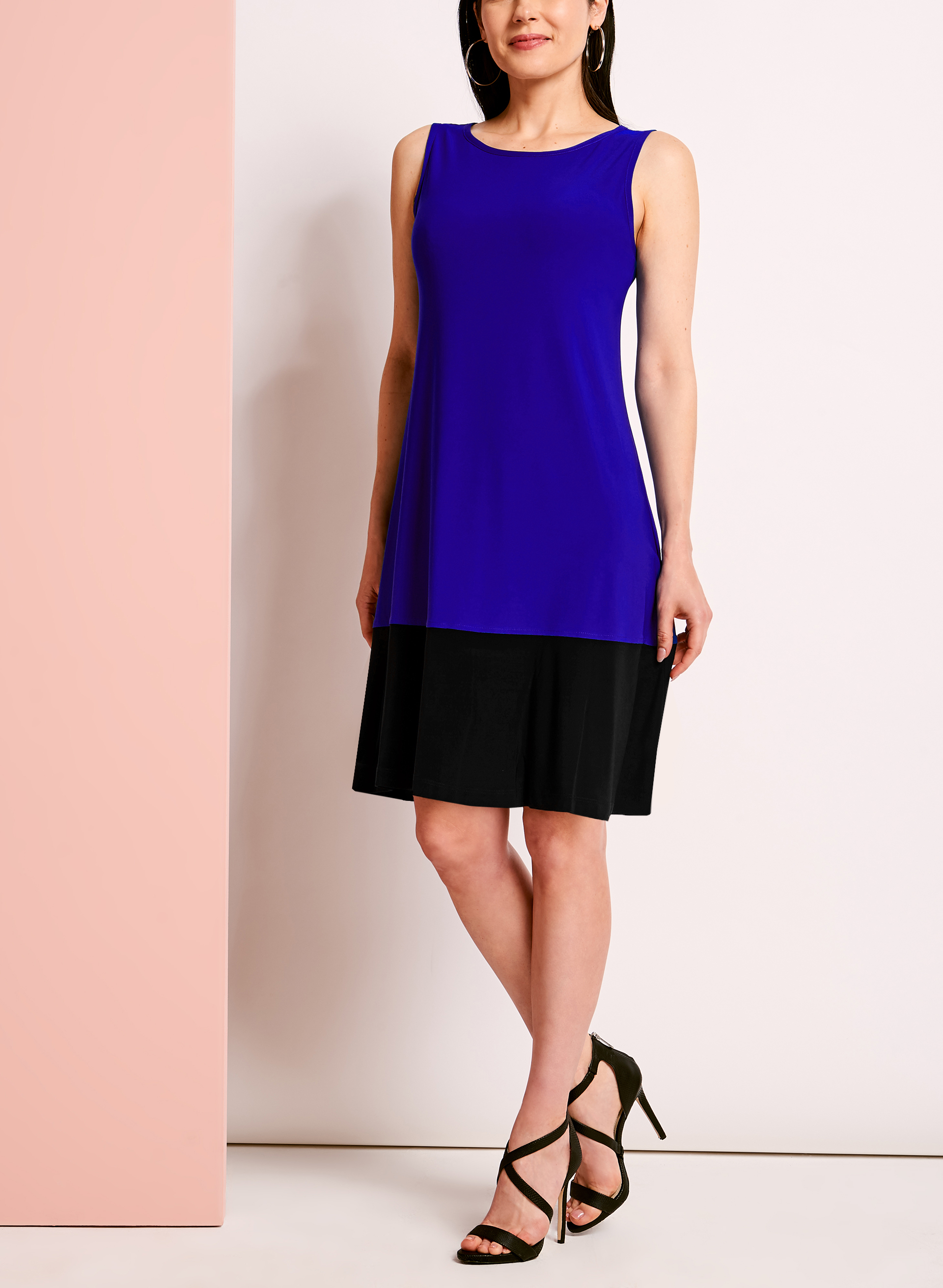 Sleeveless Colour Block Trapeze Dress  Free Shipping* Laura