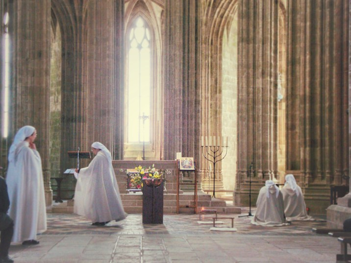 Sunday mass at Mont St Michel