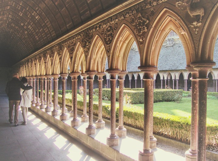 Beautiful cloisters at the Mont