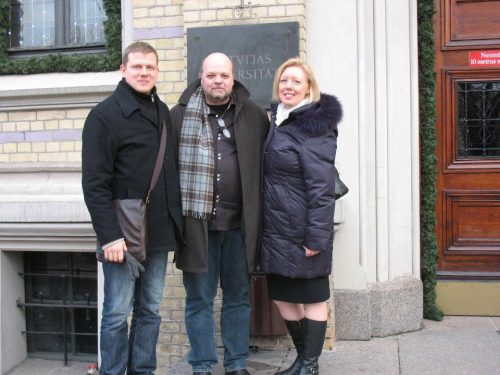 Latvian composer Eriks Esenvalds and Canadian composer Peter-Anthony Togni in Riga - Christmas 2011