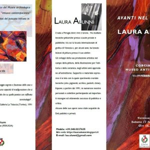 Museo antiquarium Corciano - flyer mostra d'arte