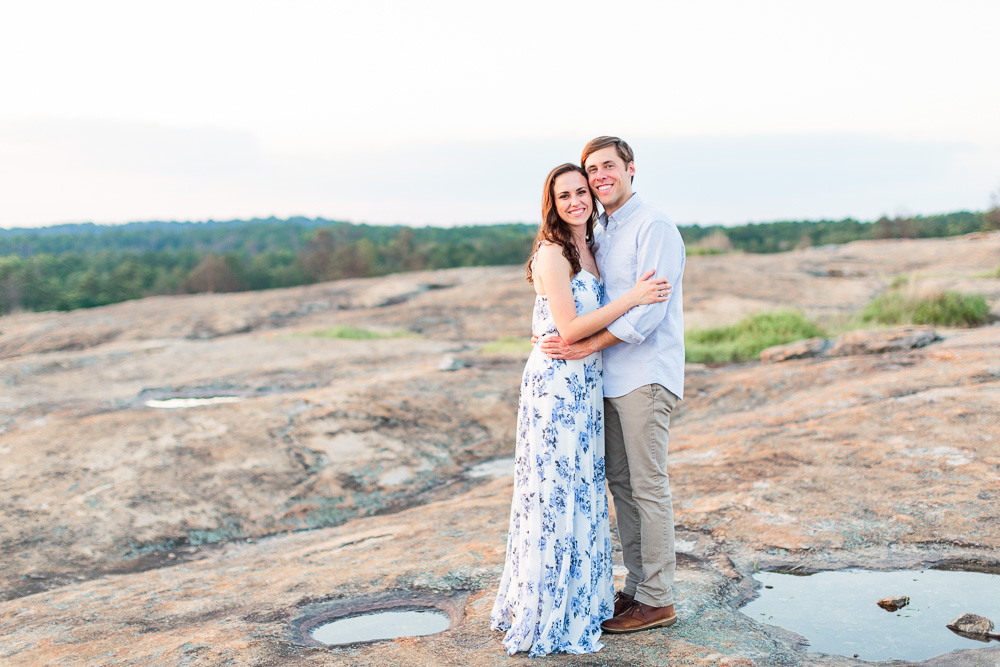 A few years ago, mr. Lyndsey Taylor S Engagement Session On Top Of Arabia Mountain Laura Watson Photography