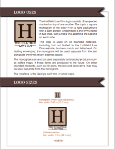 The Hollifield Law Firm Logo design guidelines