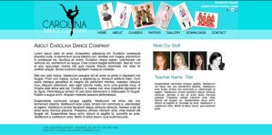 Carolina Dance Company contact page concept