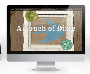 A Touch of Dixie E-commerce website mock up
