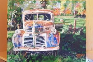 """ Retired ! "" , 16 X 20 , acrylic on canvas, $350"