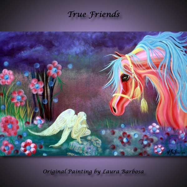 Arabian Horse And Fairy Fantasy Art Heart Of