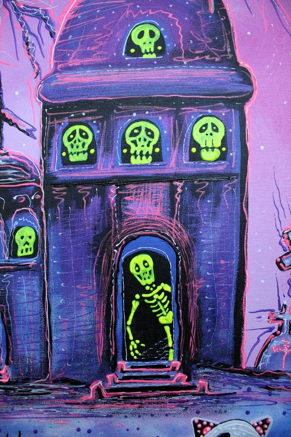 Phantasm Halloween Folk Art Fantasy Painting - ""