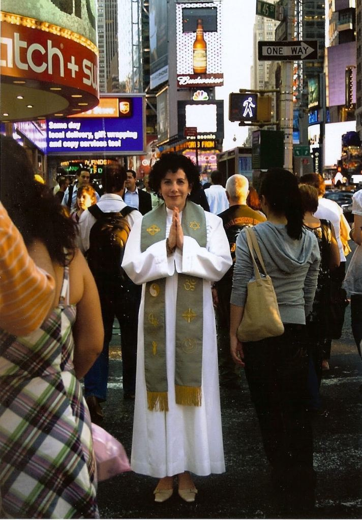 Laura Berman Fortgang in Times Square