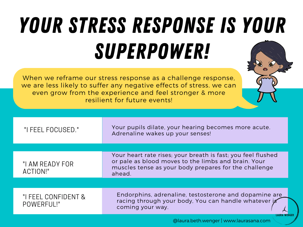 reframe your stress response as a challenge response.
