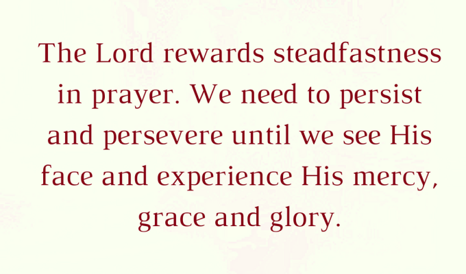 God Rewards Steadfastness