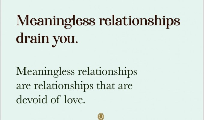 Meaningless Relationships