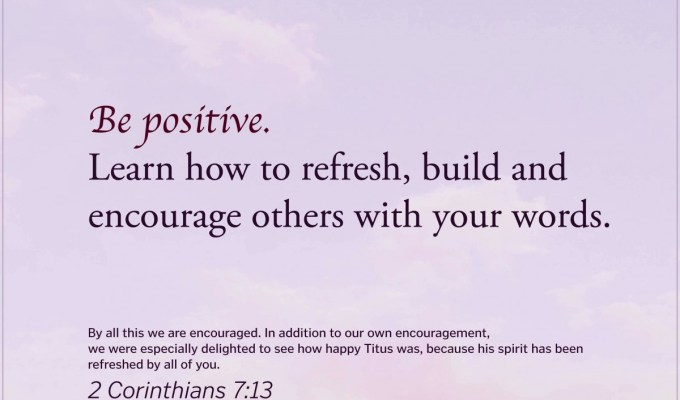 Living To Refresh Others