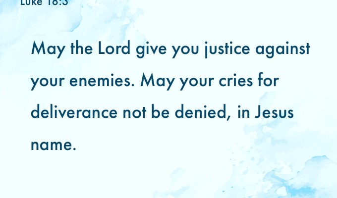 Justice Against Your Enemies