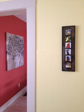 pictures hung