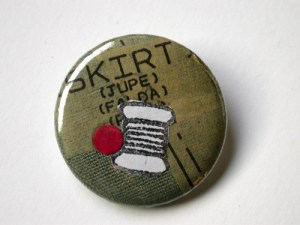 button pin by a class participant