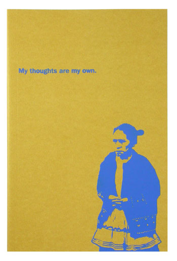 screenprinted journal-my thoughts are my own