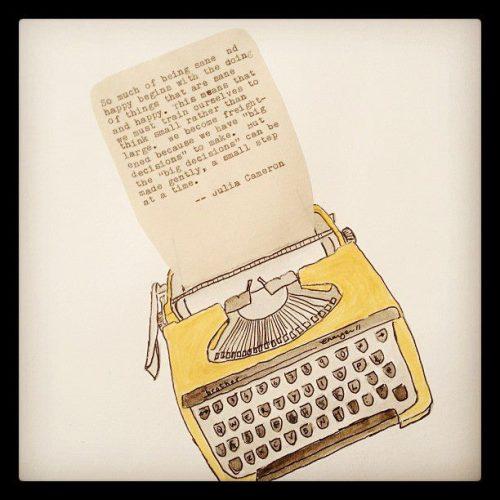 Yellow Portable Brother Typewriter