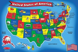 Us map puzzle to learn the us states and capitals. Fun Games For Learning The 50 States