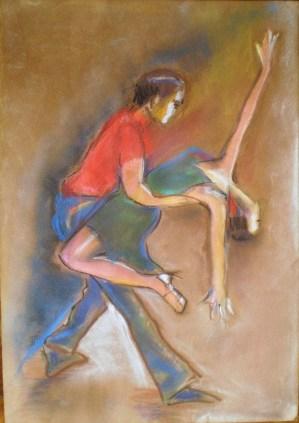pastel on paper 35×50