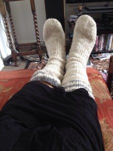 5. Wearing woolly socks in the summer
