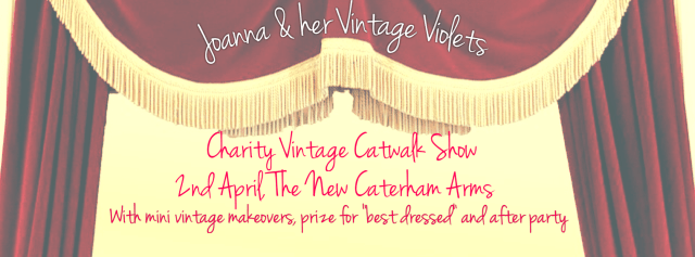 Joanna and her Vintage Violets Charity Catwalk Show for Invest in ME