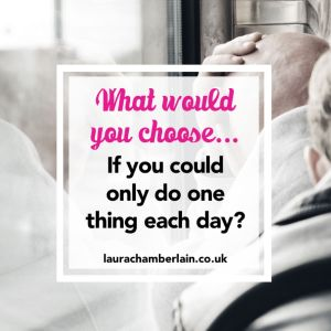 If you could do one thing every day, what would you choose?