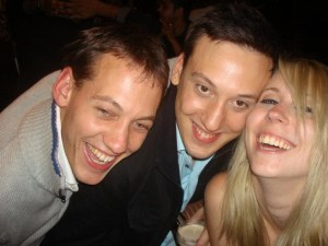 Ivan, Tim and myself, all very drunk