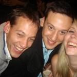 Ivan, Tim and myself, all very drunk
