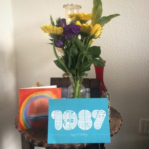 My 30th Birthday cards and flowers