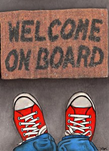 """Welcome on board"""