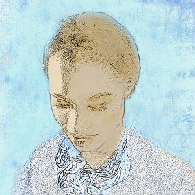 Woman-in-blue-sky