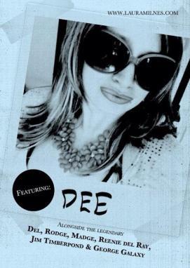 KSKKK flyer featuring Laura Dee Milnes as Dee McDonald. Designed by Tom Jackson